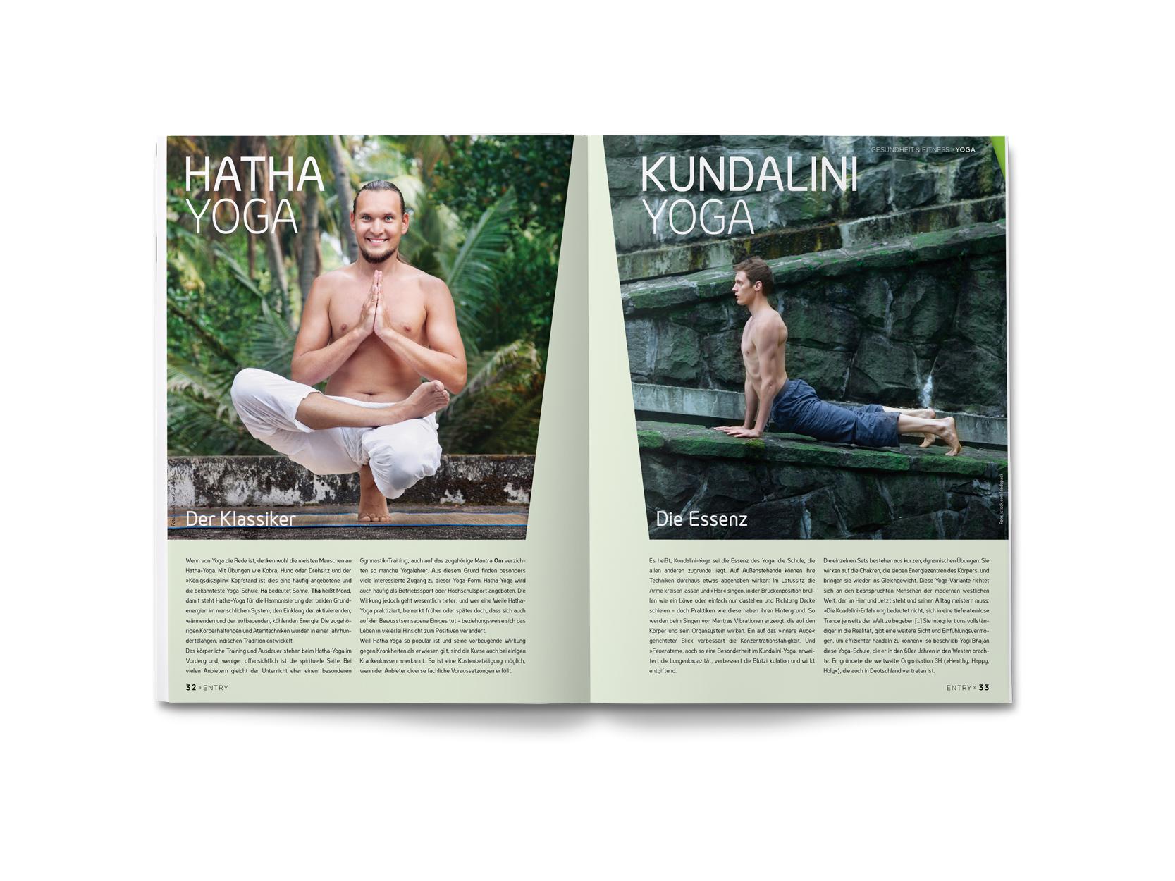 ENTRY Magazine Yoga Design Antonia Wibke Heidelmann For Huhle Media GmbH